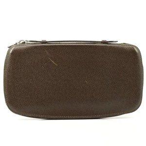 Auth Louis Vuitton Taiga Long Wallet #2367L11